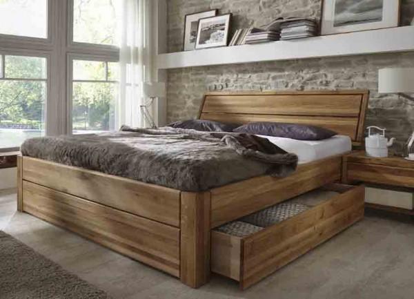 Easy Sleep Schubladenbett Komforthöhe Eiche massiv