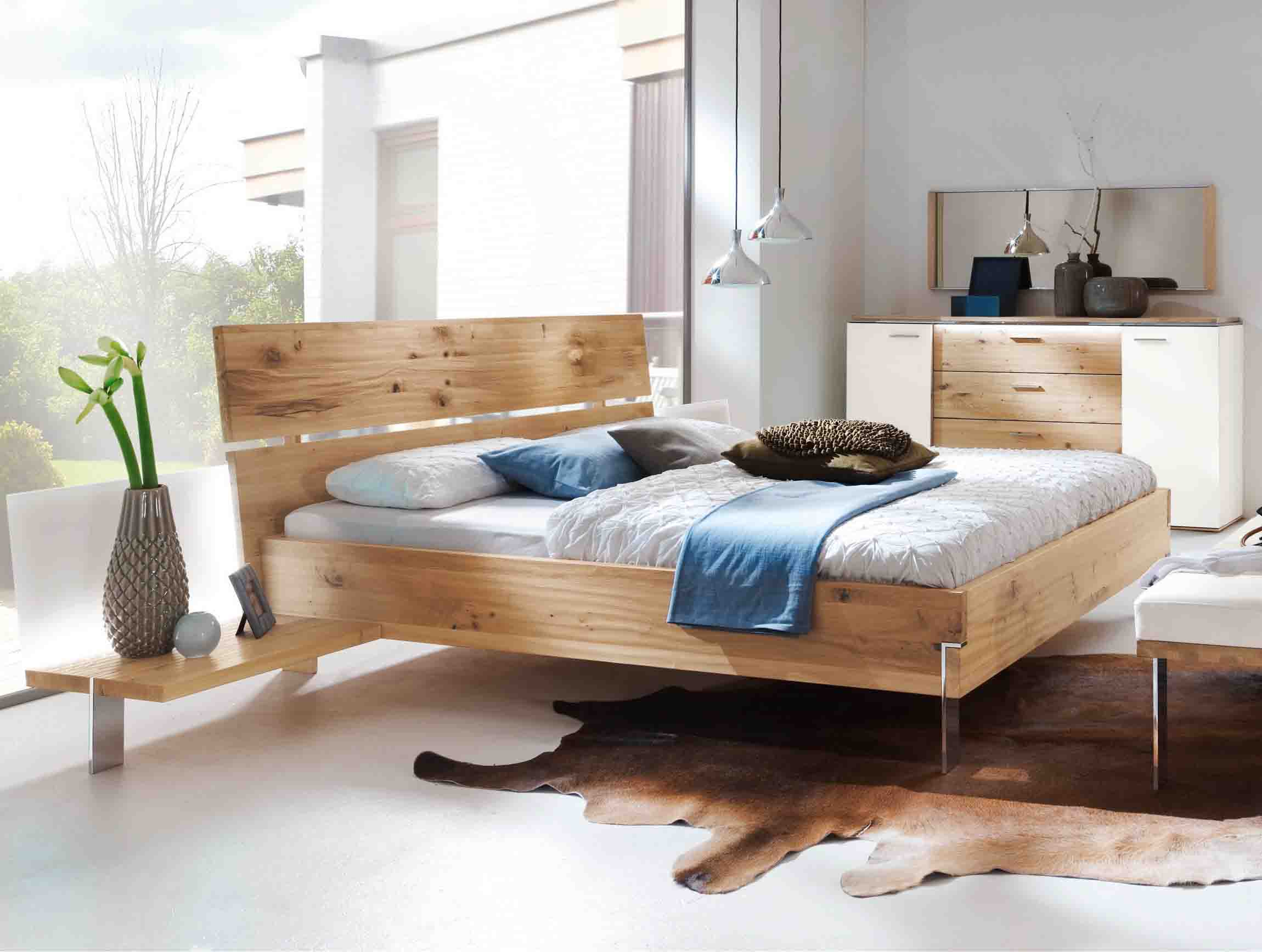 bett thielemeyer loft mit holzkopfteil eiche g nstig. Black Bedroom Furniture Sets. Home Design Ideas