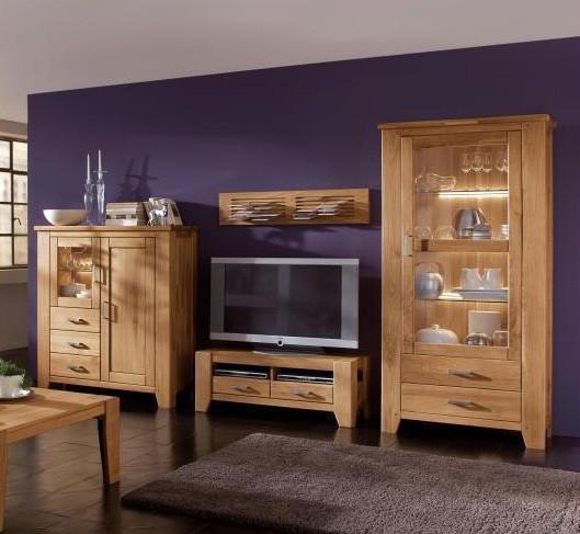 wohnwand loft 3 wildeiche massiv ge lt g nstig massiva m. Black Bedroom Furniture Sets. Home Design Ideas