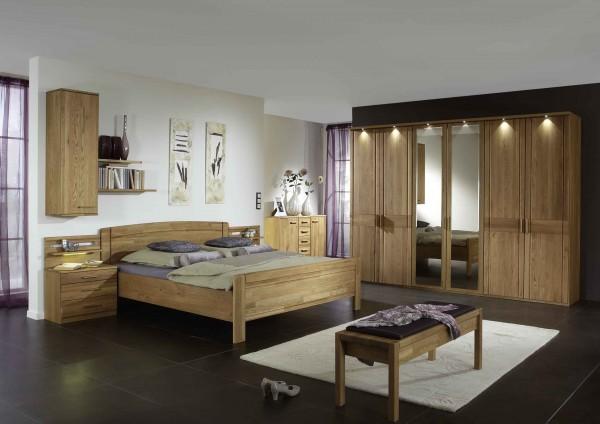 Schlafzimmer Münster Eiche teilmassiv