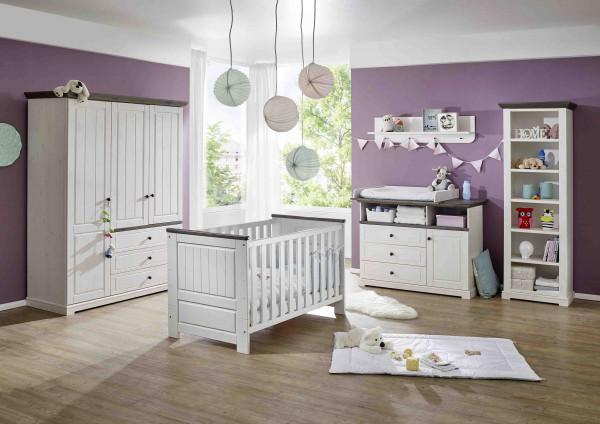 Babyzimmer Jolina in Kiefer massiv weiß gewachst Set 4