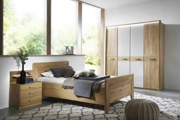 Einzel-Schlafzimmer Vivien Wildeiche natur teilmassiv