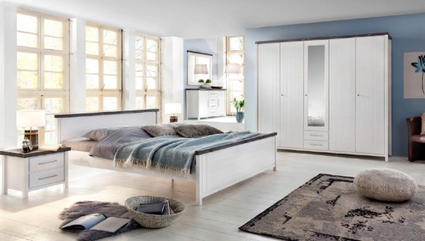bett nachtkonsolen malibu kiefer wei braun massiva m. Black Bedroom Furniture Sets. Home Design Ideas