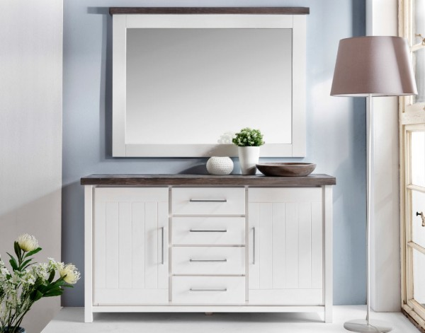 Kommode Malibu Kiefer weiß braun | Massiva Möbel.de