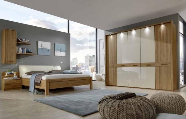 Schlafzimmer Wiemann Toledo Eiche teilmassiv Glas Magnolie