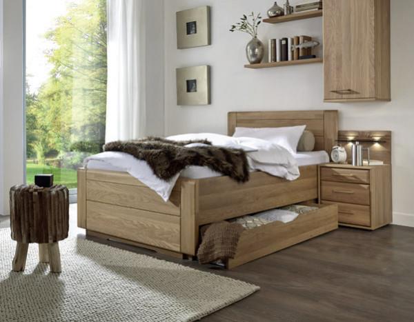 Bett Lido mit Holzkopfteil
