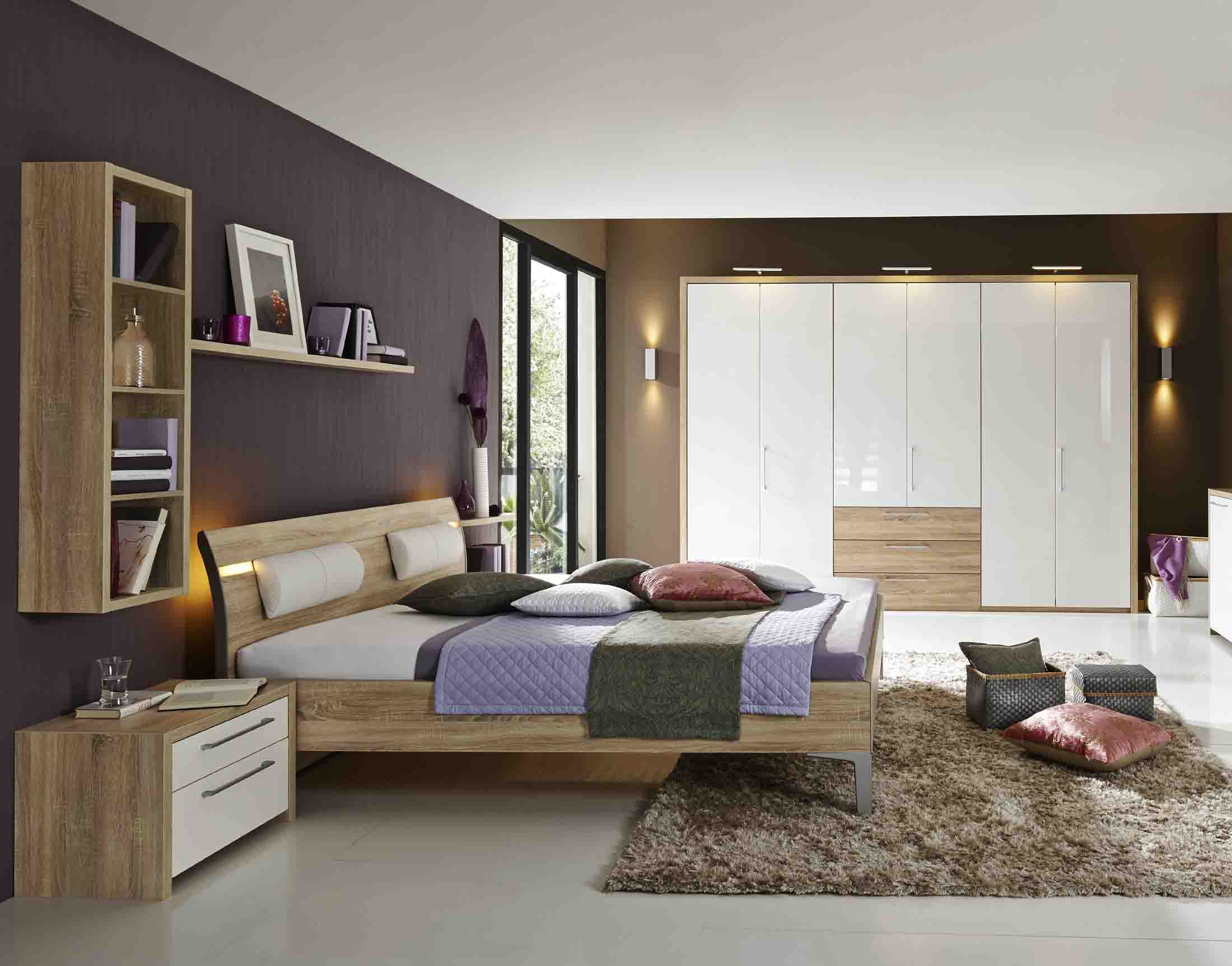 solo nova schlafzimmer eiche macao biancowei massiva m. Black Bedroom Furniture Sets. Home Design Ideas