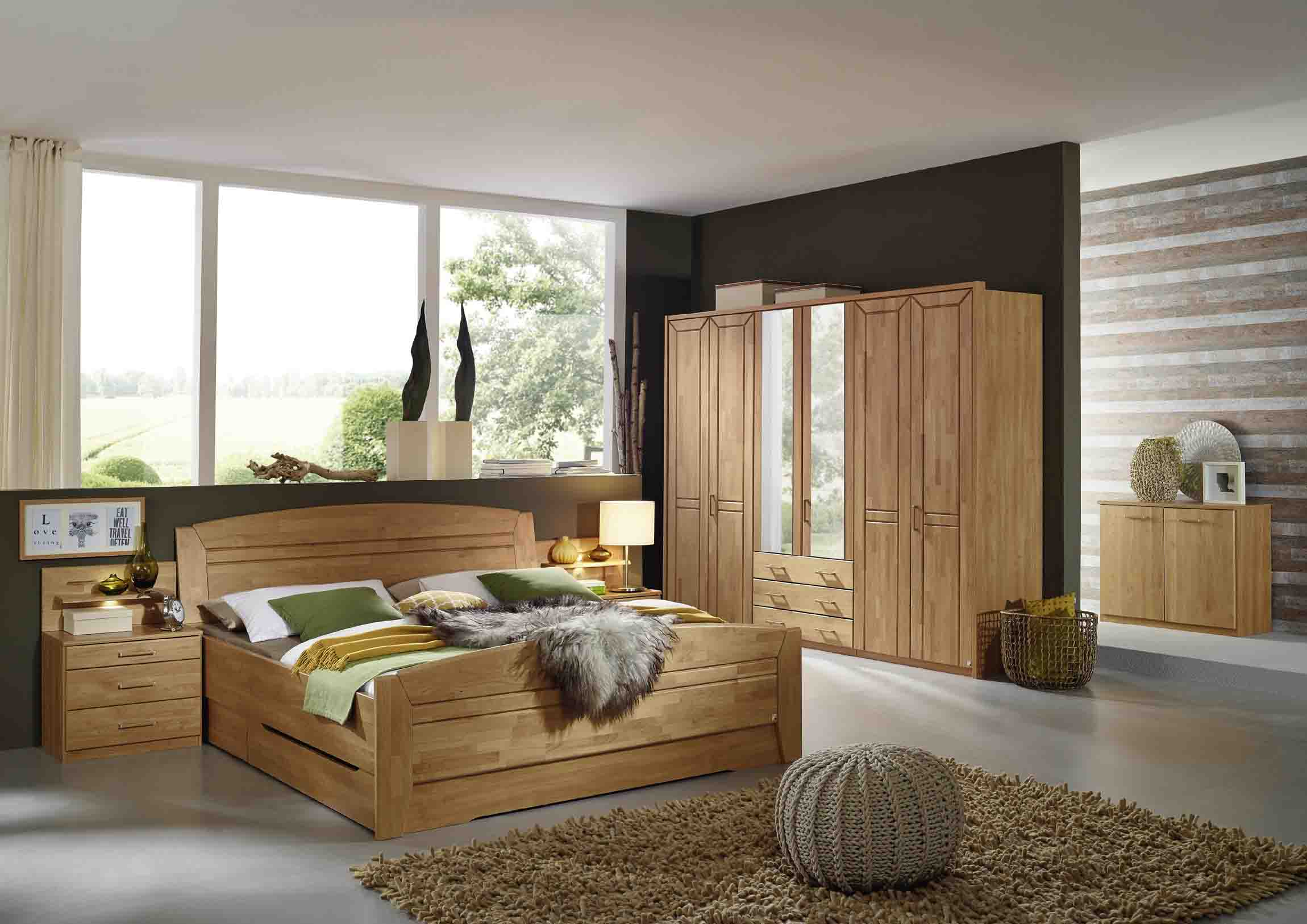 schlafzimmer silvana erle teilmassvi steffen online kaufen massiva m. Black Bedroom Furniture Sets. Home Design Ideas