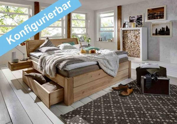 Schubkastenbett konfigurierbar, Easy Sleep gelaugt geölt