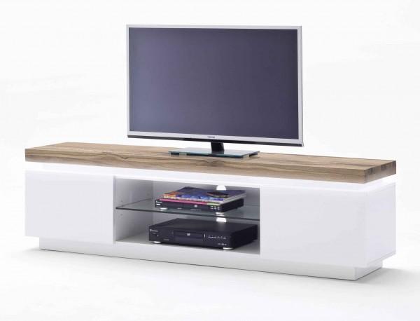 TV Lowboard Romina in weiß matt lackiert