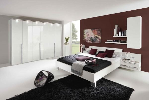 Schlafzimmer Anja plus weiß matt Lack weiß hochglanz - günstig ...