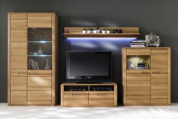 wohnwand sena 200 w03 in kernbuche ge lt von mca massiva. Black Bedroom Furniture Sets. Home Design Ideas