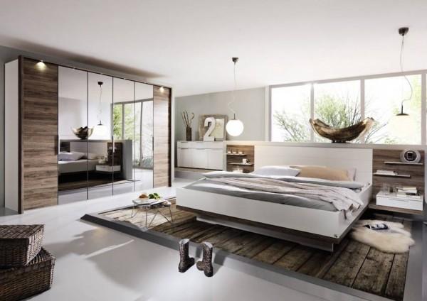 Schlafzimmer Vadora mit Spiegeltüren von Steffen | Massiva Möbel.de