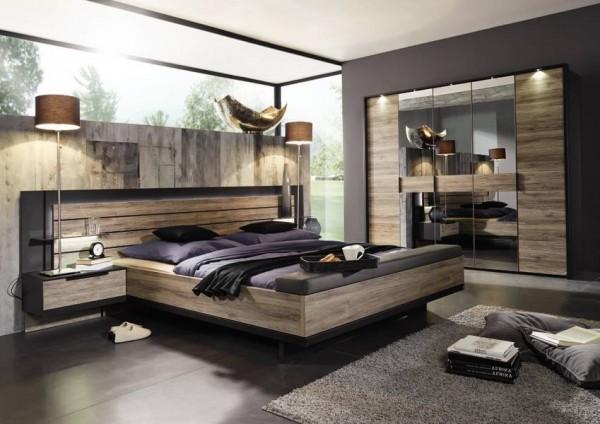 Schlafzimmer Ventura Eiche Absatz schwarz, günstig, Steffen ...