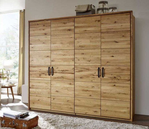 kleiderschrank jonas in wildeiche massiv ge lt g nstig massiva m. Black Bedroom Furniture Sets. Home Design Ideas