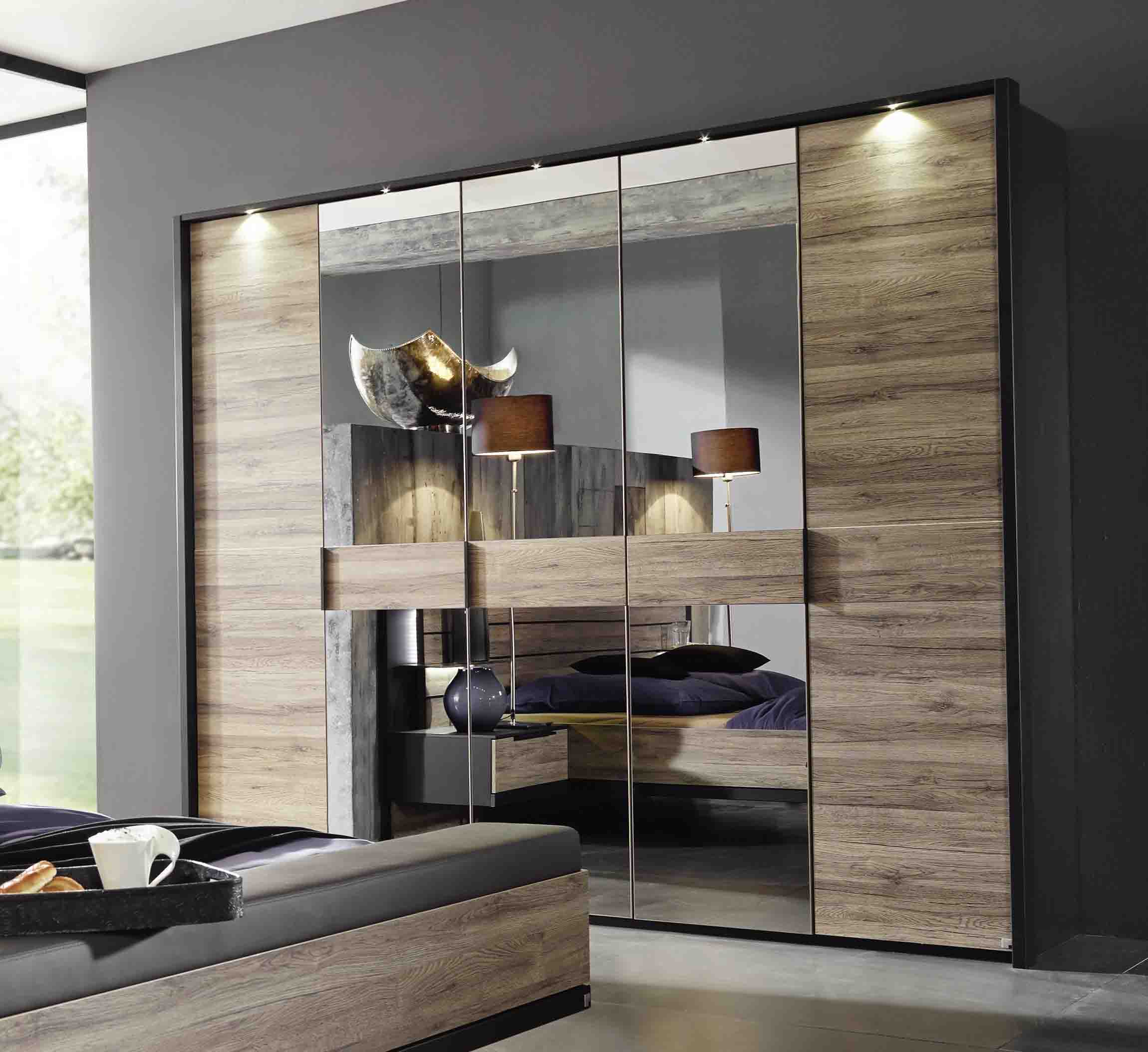 kleiderschrank ventura mit spiegelt ren eiche sanremo steffen massiva m. Black Bedroom Furniture Sets. Home Design Ideas