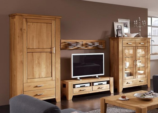wohnwand loft 1 wildeiche natur massiv ge lt ims massiva m. Black Bedroom Furniture Sets. Home Design Ideas