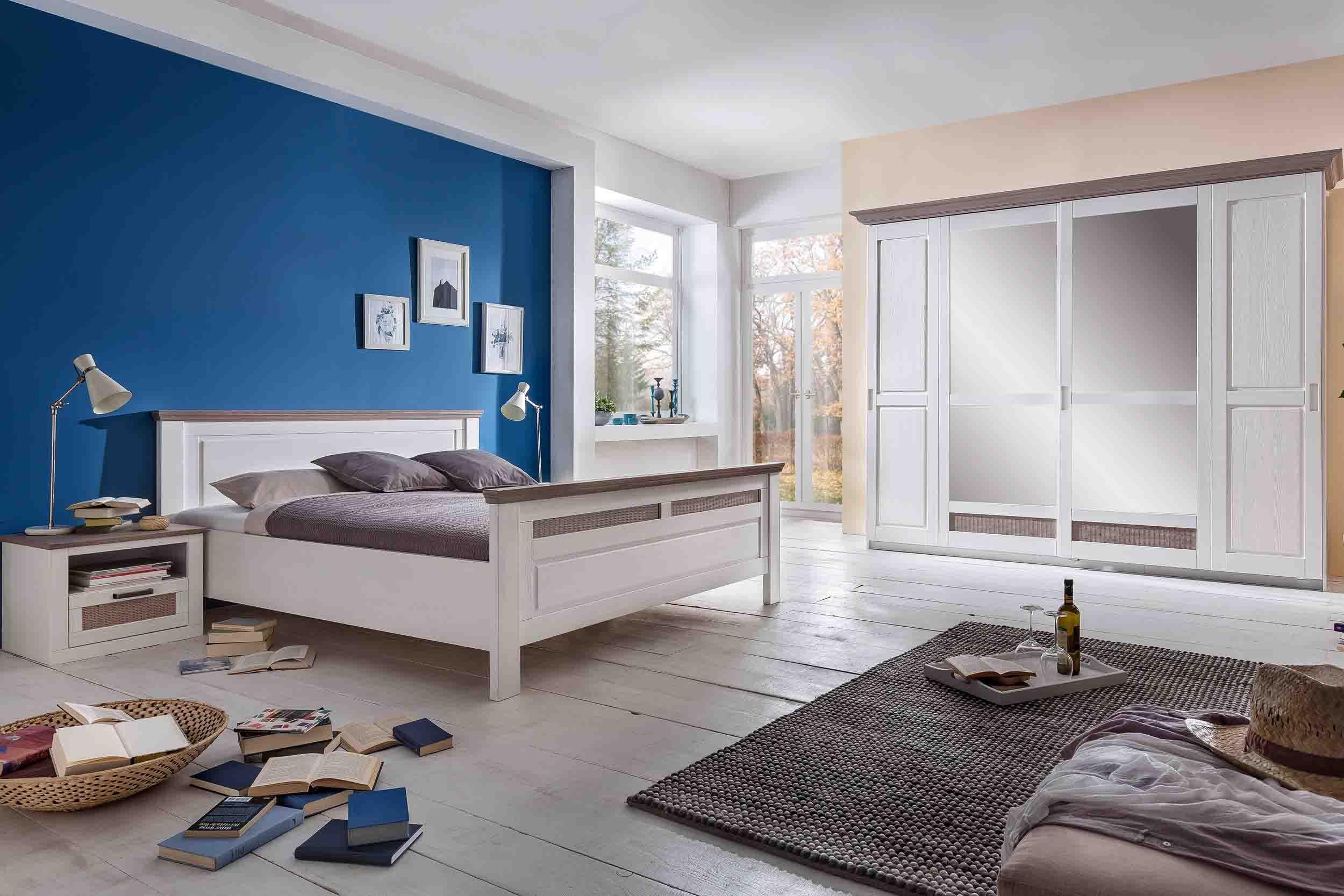 Schlafzimmer Lugano Pinie Weiss Absatz Taupe Gunstig Massiva Mobel De