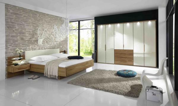 Schlafzimmer Torino Eiche teilmassiv Glas Magnolie