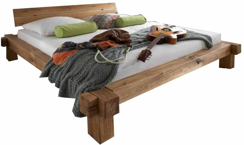 balkenbett 200x200 cm in wildeiche massiv g nstig. Black Bedroom Furniture Sets. Home Design Ideas