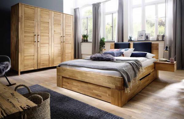 Schlafzimmer Zenna in Wildeiche massiv geölt