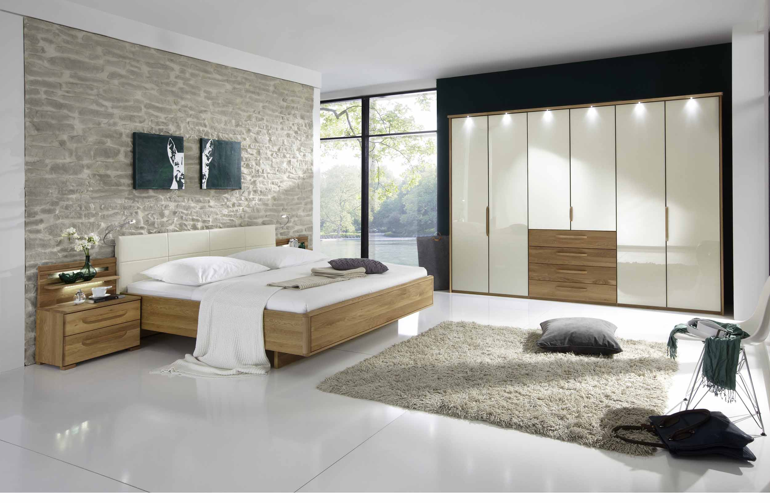schlafzimmer torino von wiemann in eiche teilmassiv magnolie massiva m. Black Bedroom Furniture Sets. Home Design Ideas