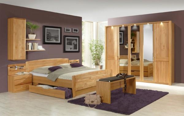 Schlafzimmer Lausanne 5-türig mit Bettschubladen, Wiemann | Massiva ...