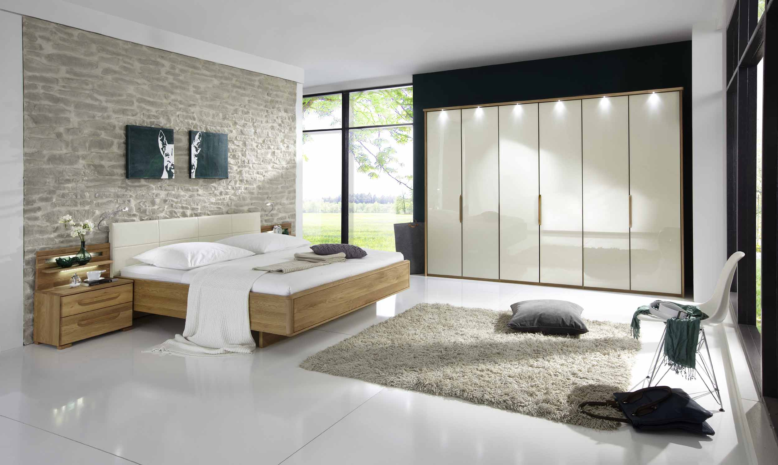 schlafzimmer torino eiche glas magnolie g nstig massiva m. Black Bedroom Furniture Sets. Home Design Ideas