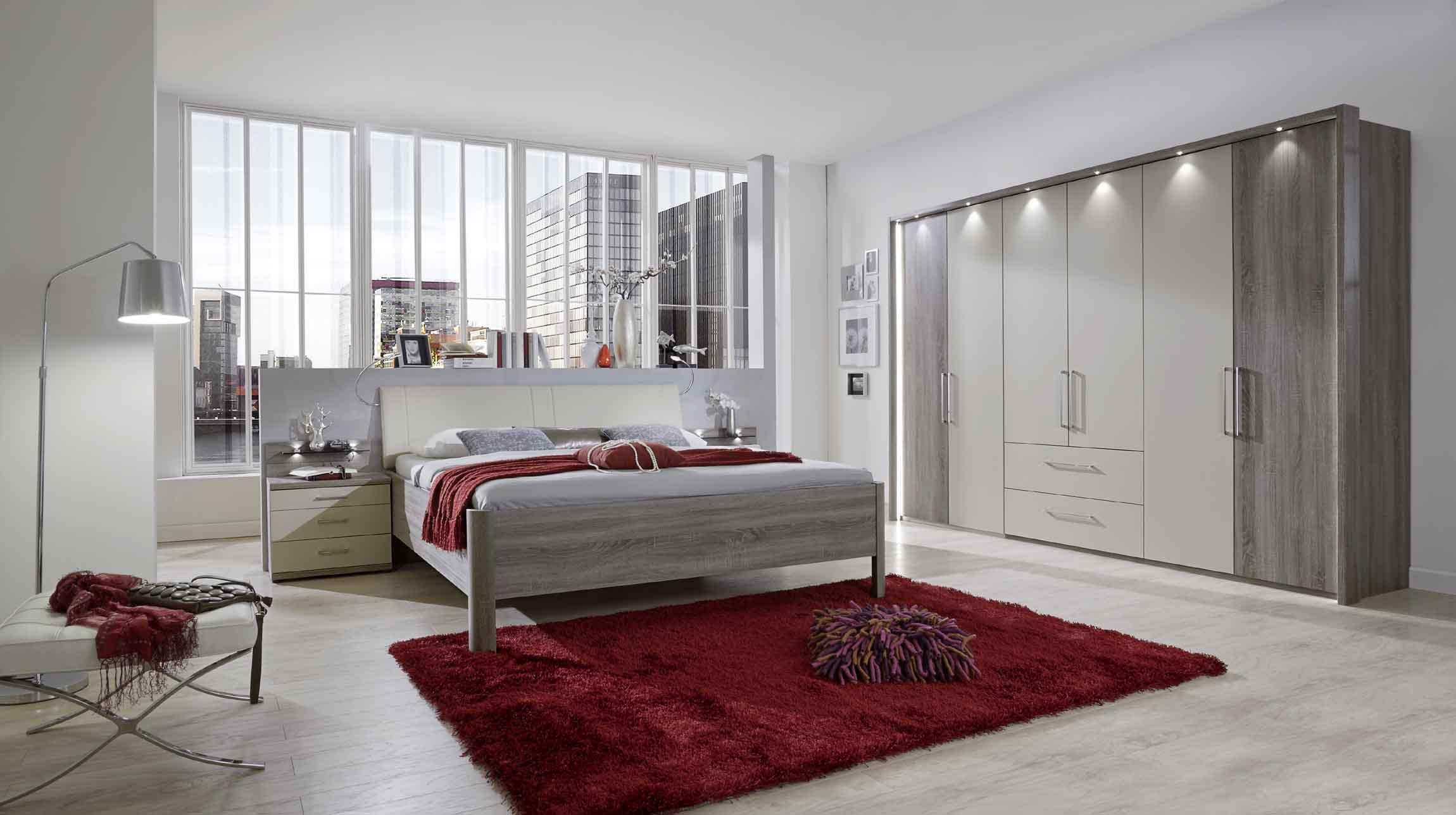 schlafzimmer wiemann andorra in tr ffeleiche absatz champagner massiva m. Black Bedroom Furniture Sets. Home Design Ideas