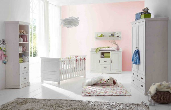 babyzimmer odette g k kiefer massiv wei g nstig massiva. Black Bedroom Furniture Sets. Home Design Ideas