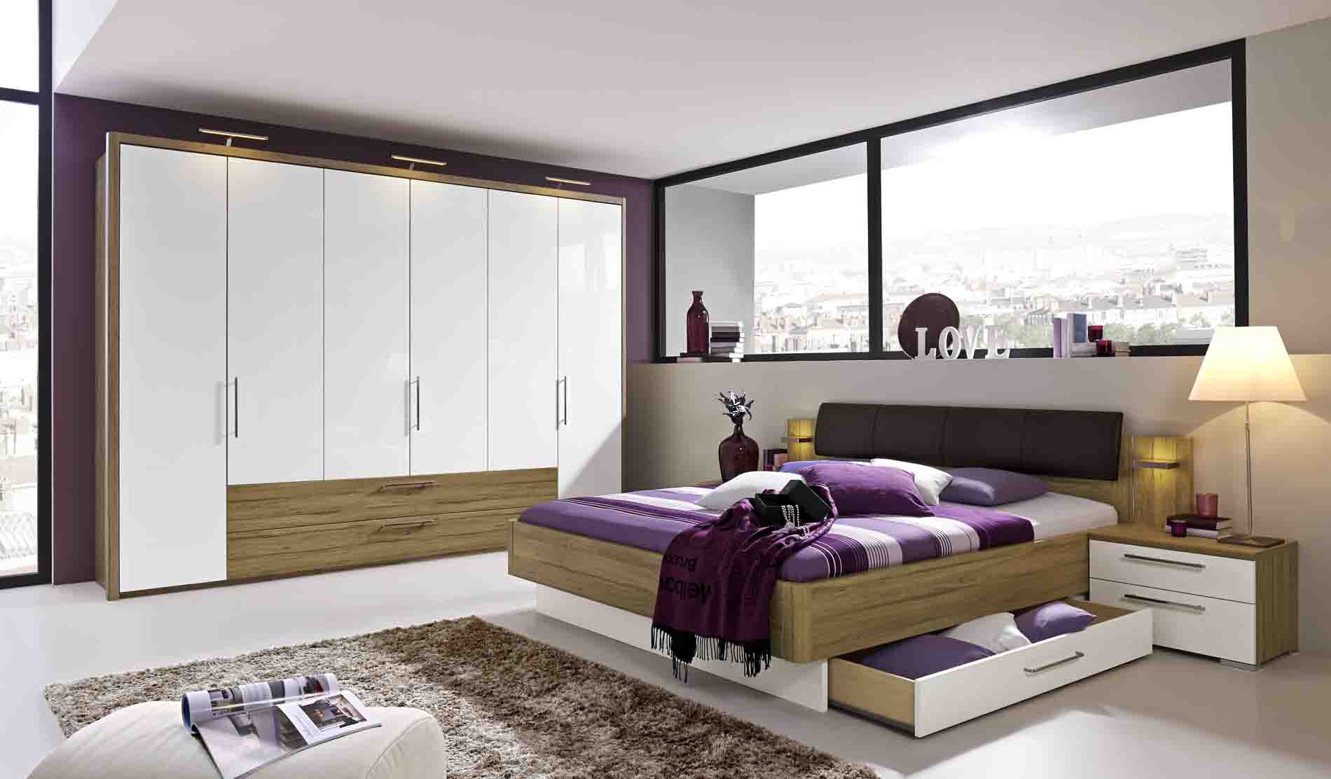 schlafzimmer zamaro mit schubladen massiva m. Black Bedroom Furniture Sets. Home Design Ideas