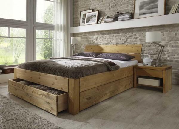 Schubkastenbett konfigurierbar, Easy Sleep Kiefer massiv