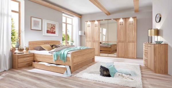Schlafzimmer Cortina Eiche teilmassiv mit Schubladen-günstig online ...