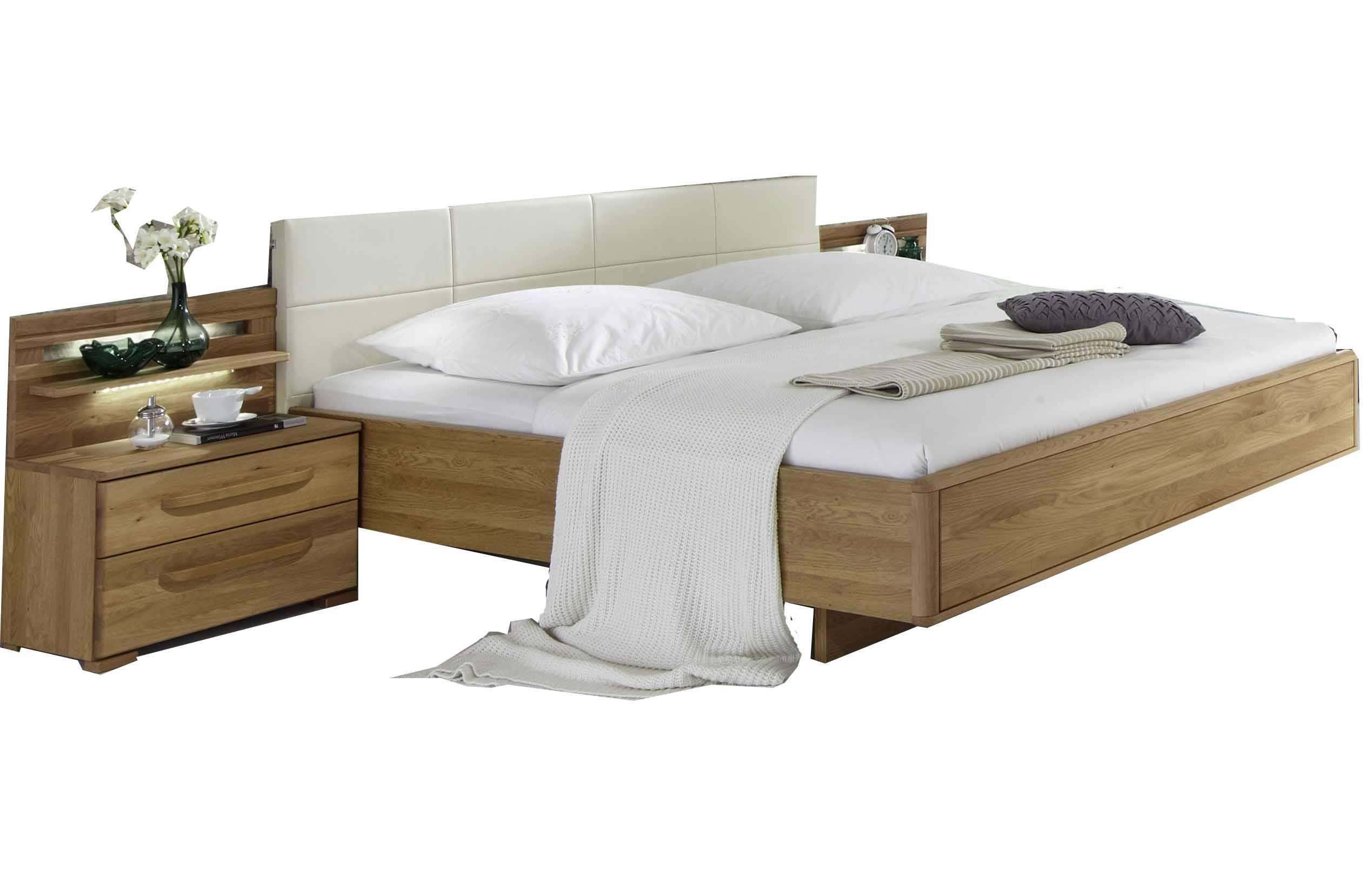 wiemann bett torino eiche teilmassiv massiva m. Black Bedroom Furniture Sets. Home Design Ideas