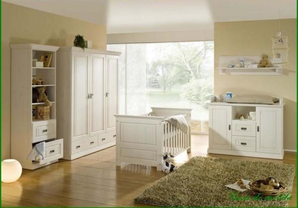 Babyzimmer Odette G+K Kiefer massiv weiß-günstig | Massiva Möbel.de