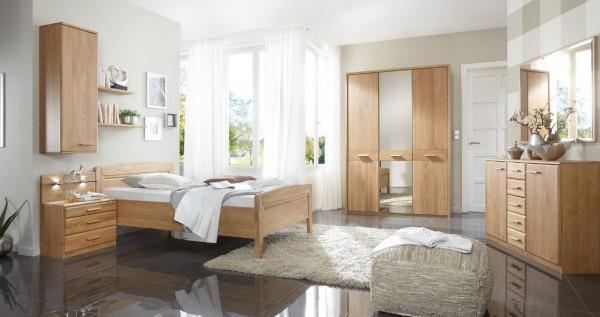 Einzel Schlafzimmer Wiemann Toledo Eiche Teilmassiv
