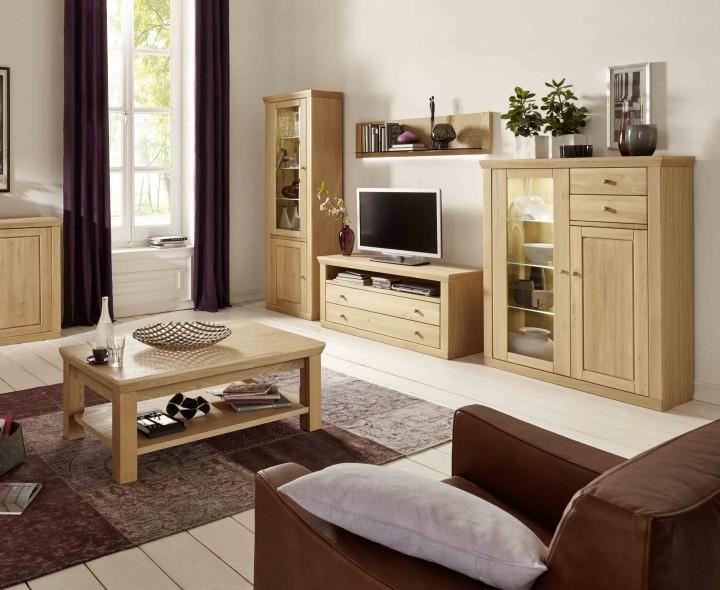 Wohnwand Verona von MCA,Eiche bianco – Massiva Möbelde