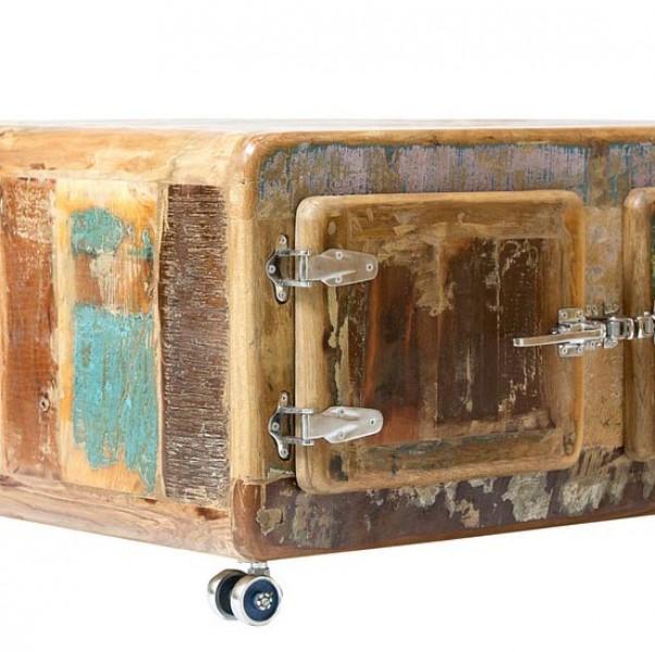 couchtisch fridge von sit altholz bunt massiva m. Black Bedroom Furniture Sets. Home Design Ideas