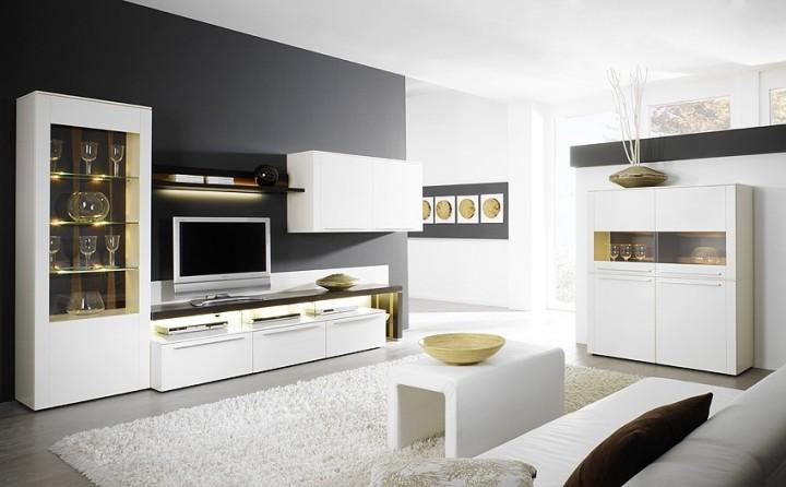 Wohnwand bellano be 01 gwinner g nstig massiva m - Moderne wohnwand weiay ...