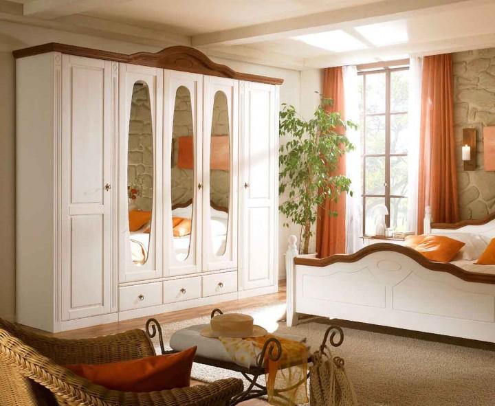 Schlafzimmer Weiß Günstig : Schlafzimmer Bozen, Pinie teilmassiv ...