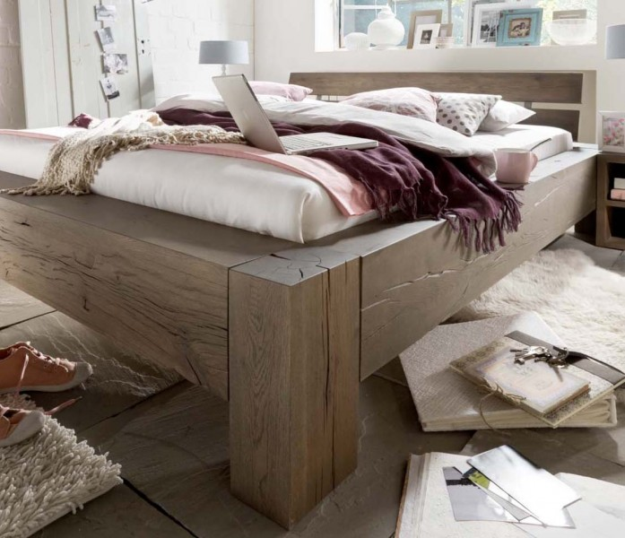 balkenbett goslar eiche massiv g nstig massiva. Black Bedroom Furniture Sets. Home Design Ideas
