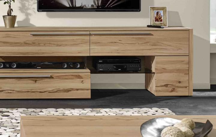 wohnwand buche natur massiv interessante ideen f r die gestaltung eines raumes in. Black Bedroom Furniture Sets. Home Design Ideas