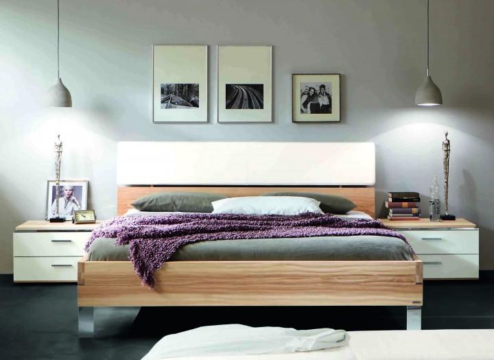 bett thielemeyer loft mit polsteraufsatz strukturesche. Black Bedroom Furniture Sets. Home Design Ideas