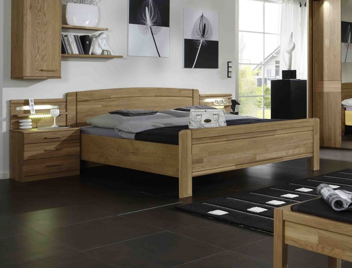 wiemann bett m nster eiche teilmassiv massiva m. Black Bedroom Furniture Sets. Home Design Ideas