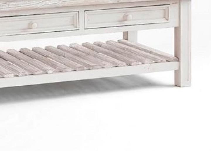 Couchtisch Opus Kiefer weiß white sanded  Massiva Möbelde