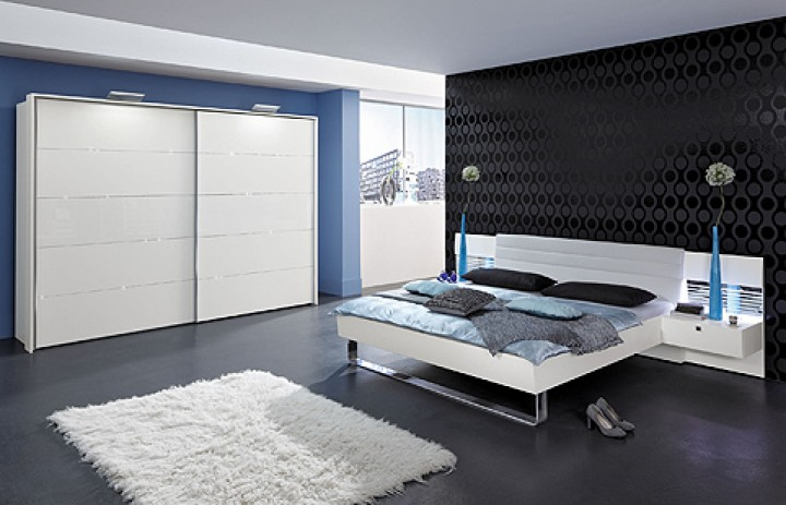 schlafzimmer modern wei. Black Bedroom Furniture Sets. Home Design Ideas