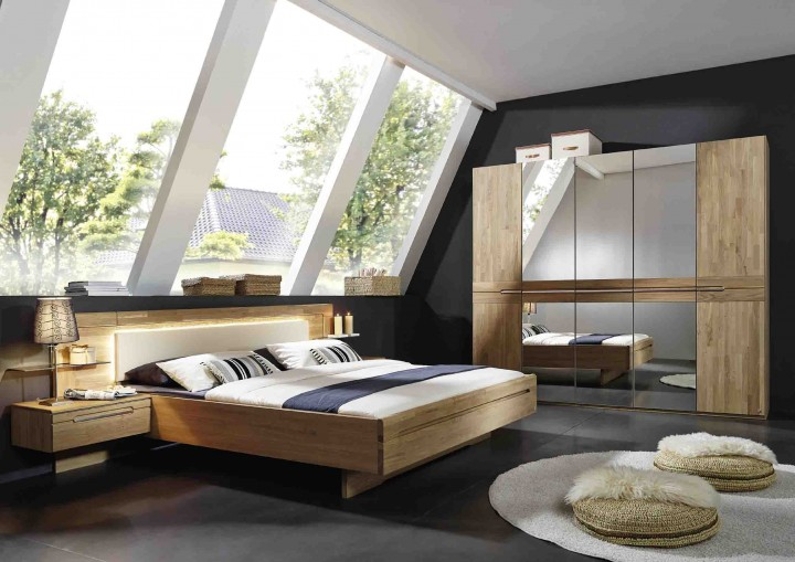 schlafzimmer tovalo rauch steffen kernbuche massiva m. Black Bedroom Furniture Sets. Home Design Ideas